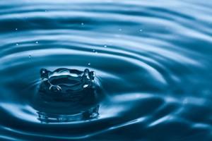Water drop splashing